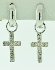 1/4ct tw Diamond Cross Earrings
