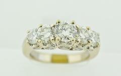Multi-Diamond Engagement Ring Set in 14k White Gold