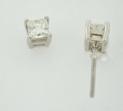 1/2ct t.w. Princess-cut Diamond Studs