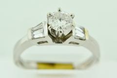 Platinum Diamond Semi-Mount Engagement Ring