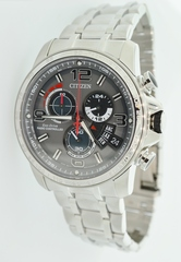 Stainless Steel Citizen Eco-Drive Watch with Sapphire Crystal