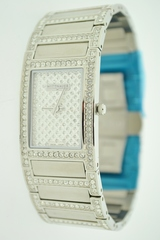 Stainless Steel Wittnauer Water Resistant Watch with Sapphire Crystal and Cubic Zirconia