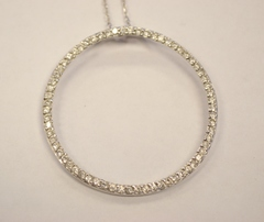Sterling Silver Eternity Cubic Zirconia Pendant