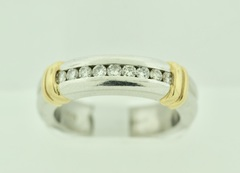 Platinum/18k Yellow Gold Diamond Band