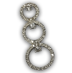 Floating Diamond Pendant, Set in 14k White Gold