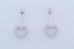 .50ct tw Diamond Heart Earrings