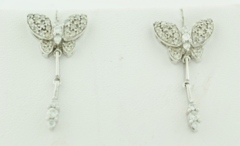 .55ct tw Diamond Butterfly Earrings