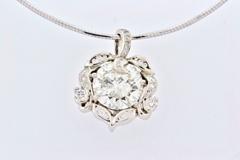 8+ct Diamond Pendant, Set in 14k White Gold
