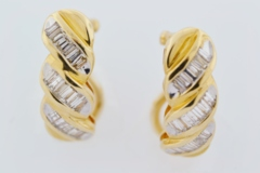 1.5ct tw Diamond Earrings in 14k Yellow Gold