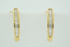 1ct tw Diamond Hoop Earrings