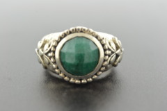 Emerald Ring, Set in Sterling Silver