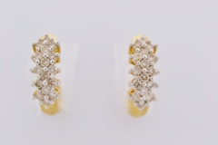 1ct tw Round Brilliant-cut Diamond Earrings in 14k White Gold