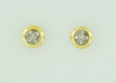 1/2ct tw Princess-cut Diamond Studs