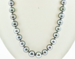 Tahitian Pearl Necklace Grade B/B+, 18in.
