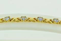 Tanzanite and Diamond Bracelet, in 14k Yellow Gold