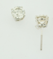 2.02ct tw Round Brilliant-cut Diamond Studs