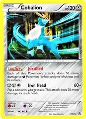 Cobalion - BW72 - Cracked Ice Holo Promo - Legends of Justice Box