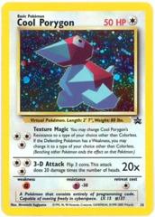 Cool Porygon - 15 - Pokemon Stadium Nintendo 64 Bundle Holo Black Star Promo