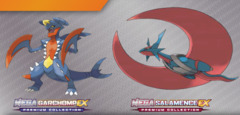 Pokemon Mega Garchomp / Salamence EX Collection
