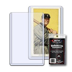 BCW TOBACCO - 10 TOPLOADERS WITH SLEEVES