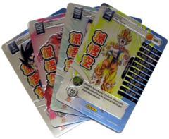 Goku - 4 Personality Card Set - High Tech Foil