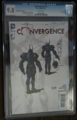 Convergence #1 1:100 Capullo Sketch CGC 9.8