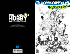 Justice League #1 Most Good Hobby Exclusive EBAS Inked Variant (REBIRTH)