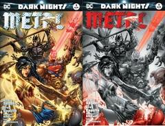 Dark Nights Metal #1 Most Good Hobby Exclusive EBAS Color & B/W Variant Set