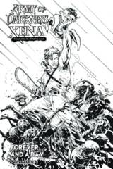AOD Xena Forever And A Day #2 (Of 6) Cover B 1:10 Variant B&W Incv