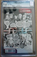 Avengers & X-Men Axis #1 Zdarsky Sketch Party Variant CGC 9.8