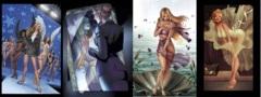 GFT Goddess Inc #1 Lot Cover A B C D Set