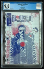 Bloodshot Reborn #10 1:100 Lemire Variant CGC 9.8