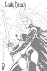 Lady Death Damnation Game #1 Ortiz 1:10 Variant Cover
