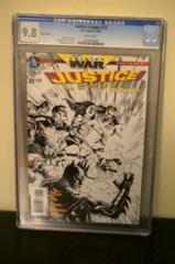 Justice League #23 1:100 Sketch Variant (Trinity) CGC 9.8