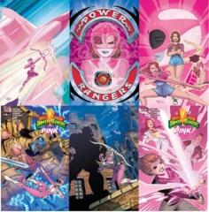 Power Rangers Pink Lot 1 2 3 4 5 6 Set