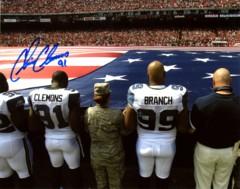Chris Clemons Seahawks 8x10 Autographed Photo A