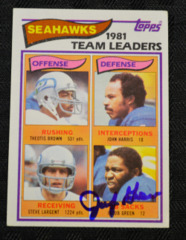 Jacob Green Signed 1981 Seahawks Topps Card