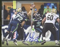 Michael Bennett Seahawks Autographed  8x10 Photo G
