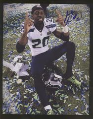Jeremy Lane Seahawks Autographed  8x10 Photo K jlsale
