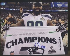Tony McDaniel Seahawks Autographed  8x10 Photo B
