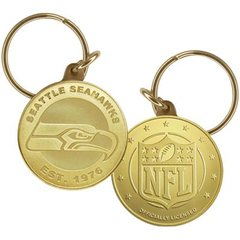 Seattle Seahawks Bronze Keychain