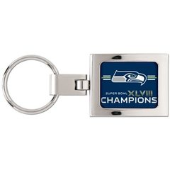 Seattle Seahawks Super Bowl XLVIII Champions Premium Metal Key Ring