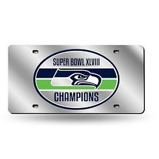 Super Bowl Champions Seattle Seahawks Mirrored Liscense Plate Frame