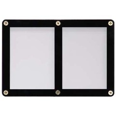 2-Card Black Frame Screwdown Holder