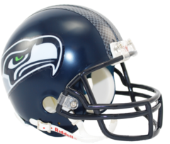 Seattle Seahawks Mini Helmet Current Style 2012 > Unsigned