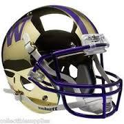 University of Washington UW Huskies Gold Mirror Mini Helmet