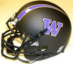 University of Washington UW Huskies Matte Black Mini Helmet
