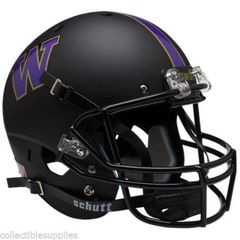 University of Washington UW Huskies Matte Black Full Size Replica Helmet