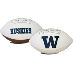 University of Washington UW Huskies White Panel Logo Football
