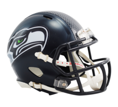 Seattle Seahawks Mini Helmet Current Speed Style Unsigned